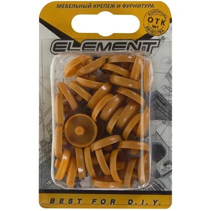 Заглушки рамного дюбеля Element 15 мм пластик цвет вишня 35 шт.