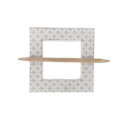 Заколка для штор Луиса 14.5х14.5 см цвет натуральный/белый