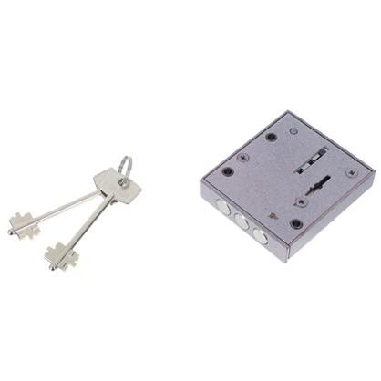 Купить Замок накладной Блок-2М с никелированным ключом цвет серый дешевле