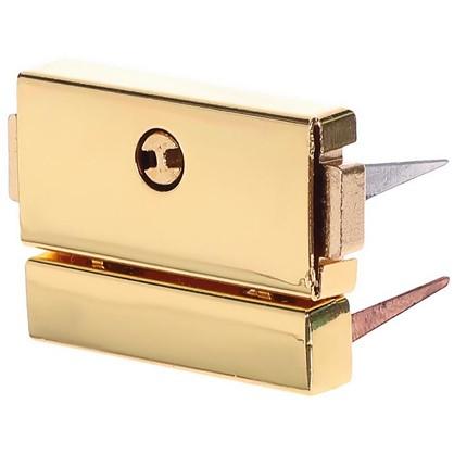 Купить Замок нажимной 25x32 мм цвет золото дешевле
