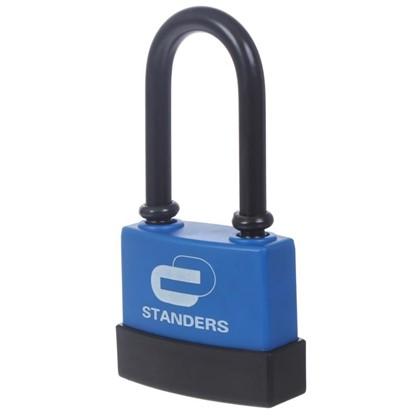 Купить Замок с автоматическим запиранием Standers пластиковое покрытие 65 мм чугун дешевле