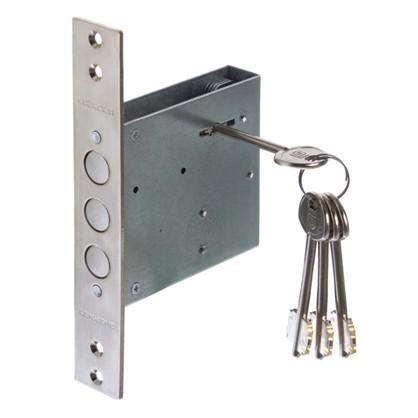 Купить Замок врезной Гардиан-3001 4 ключа цвет хром дешевле
