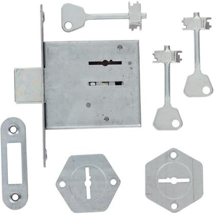 Купить Замок врезной Ригель-ЗВ8-4С 3 ключа цвет серый дешевле