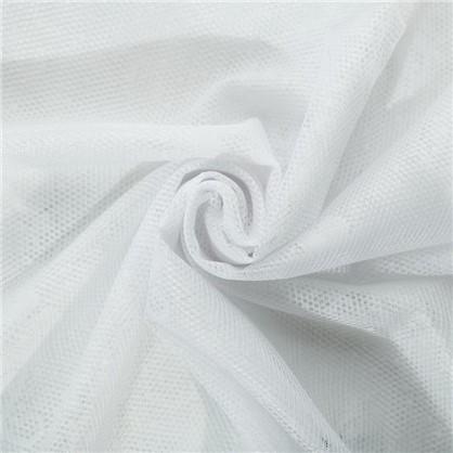 Занавеска для кухни Цветочки 170х140 см жаккард цвет белый