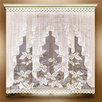 Занавеска для кухни Листопад 170х160 см жаккард цвет белый