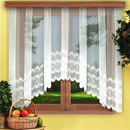 Купить Занавеска для кухни на ленте Нежность 420х165 см цвет белый дешевле