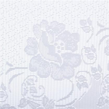 Занавеска для кухни на ленте Розы 285х160 см сетка цвет белый