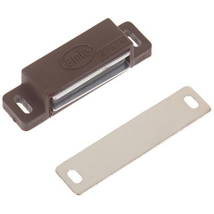 Защелка магнитная Amig Модель 10 58х15 мм пластик цвет коричневый