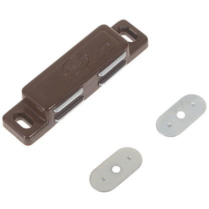 Защелка магнитная Amig Модель 20 75х18 мм пластик цвет коричневый