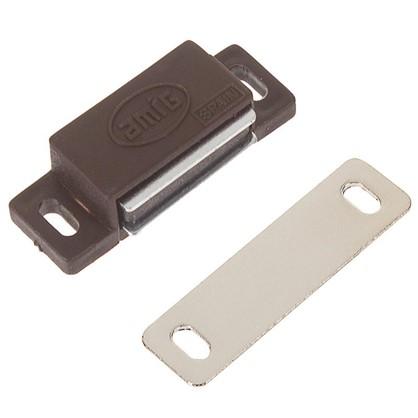 Защелка магнитная Amig Модель 5 46х15 мм пластик цвет коричневый