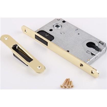 Защелка под цилиндр магнитная EDS-50-85 KEY с ключом цвет золото