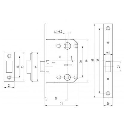 Защелка сантехническая магнитная EDS-50-70 цвет бронза