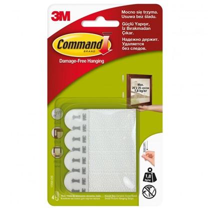 Застежки для рамок Command малые пластик цвет белый 4 пары
