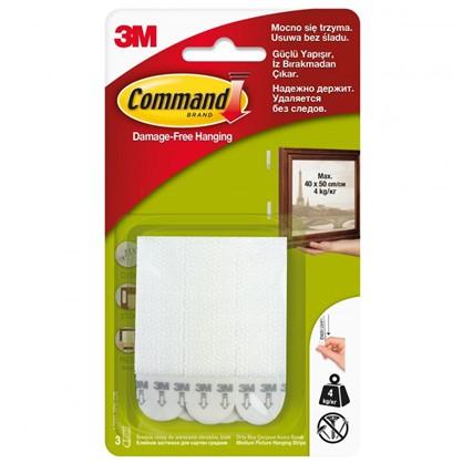 Купить Застежки для рамок Command средние пластик цвет белый 3 пары дешевле