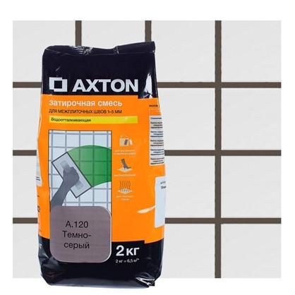 Купить Цементная затирка Axton А.120 2 кг цвет темно-серый дешевле