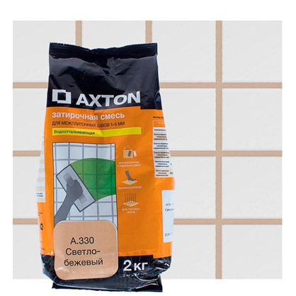 Цементная затирка Axton А.330 2 кг цвет светло-бежевый