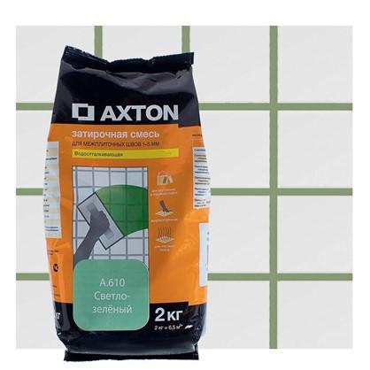 Цементная затирка Axton А.610 2 кг. цвет светло-зеленый
