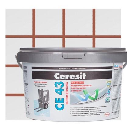 Цементная затирка Ceresit CE 43/2 водоотталкивающая цвет кирпичный