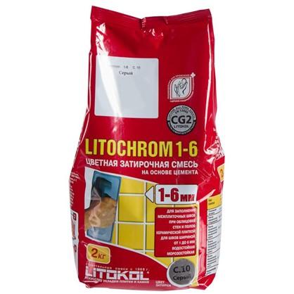 Купить Цементная затирка Litochrom 1-6 С.10 2 кг цвет серый дешевле