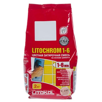 Цементная затирка Litochrom 1-6 С.180 2 кг цвет розовый