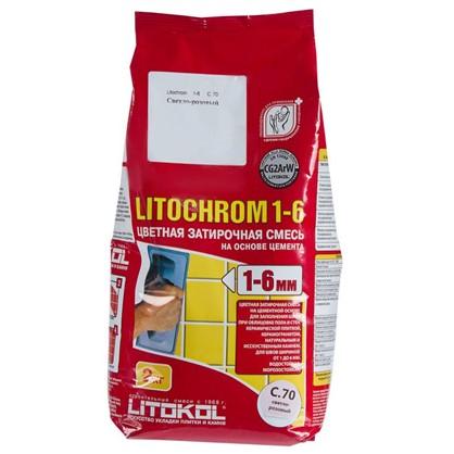 Купить Цементная затирка Litochrom 1-6 С.70 2 кг цвет розовый дешевле