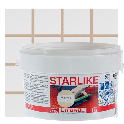 Эпоксидная затирка Litochrom Starlike C290 1 кг цвет светло-бежевый