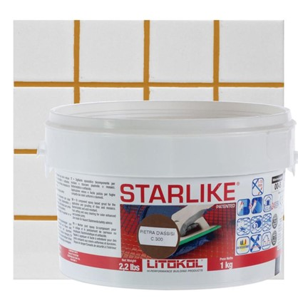Эпоксидная затирка Litochrom Starlike C300 1 кг цвет коричневый