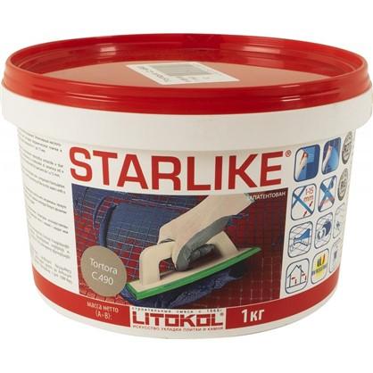Эпоксидная затирка Litochrom Starlike C490 1 кг цвет серо-бежевый