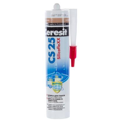 Силиконовая затирка Ceresit CS 25 цвет карамель