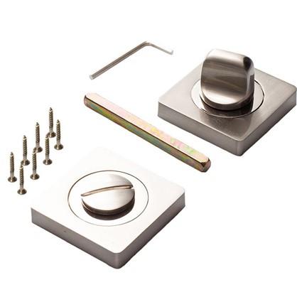 Завертка квадратная к ручкам RENZ цвет матовый никель