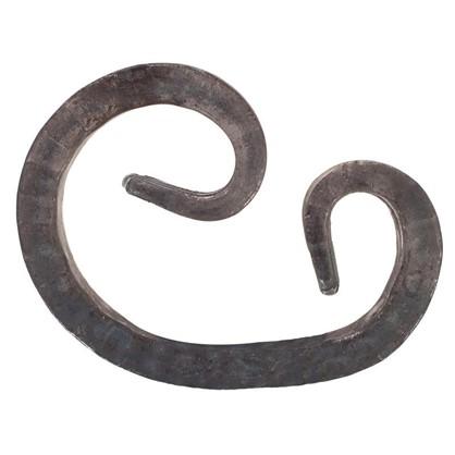 Купить Завиток кованый асимметричный 12х90х125 мм сталь дешевле