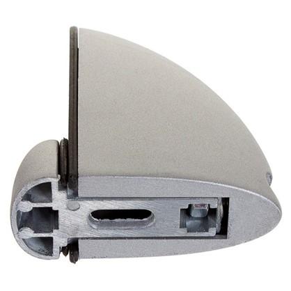 Зажим металлический средний 4-16 мм цвет матовое серебро