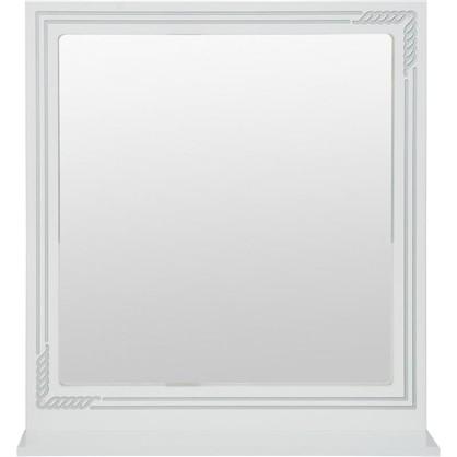 Купить Зеркало Элен 75 см цвет белое серебро дешевле