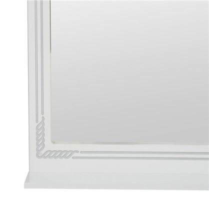 Зеркало Элен 75 см цвет белое серебро