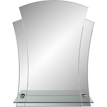 Зеркало Лотос с полкой 48 см