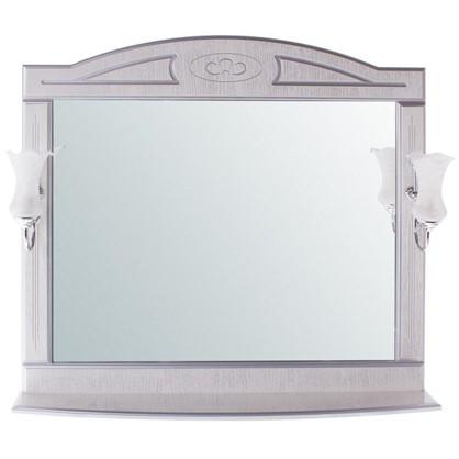 Купить Зеркало Луиза 105 см цвет белое серебро дешевле