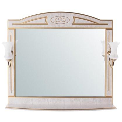Купить Зеркало Луиза 105 см цвет белое золото дешевле