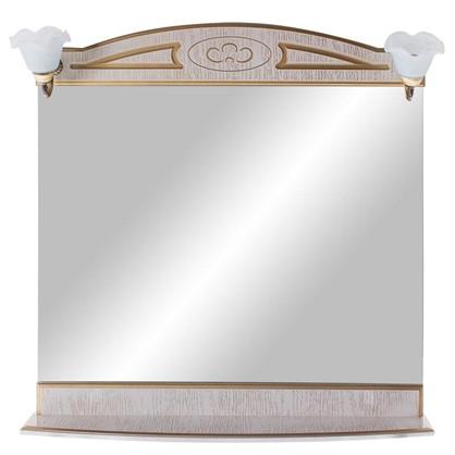 Зеркало Луиза 83 см цвет белое золото