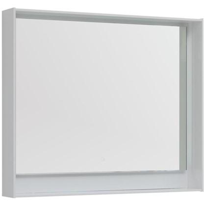 Купить Зеркало с подсветкой Мокка 100 см цвет белый глянец дешевле