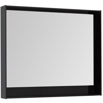 Купить Зеркало с подсветкой Мокка 100 см цвет чёрный глянец дешевле