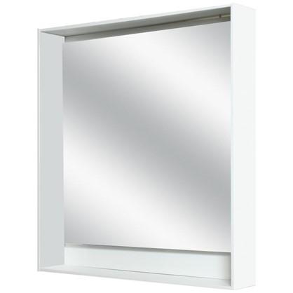 Зеркало с подсветкой Мокка 60 см цвет белый глянец
