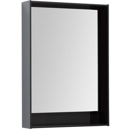 Купить Зеркало с подсветкой Мокка 60 см цвет чёрный глянец дешевле