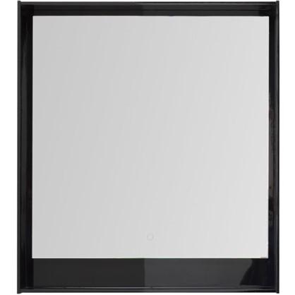 Зеркало с подсветкой Мокка 80 см цвет чёрный глянец