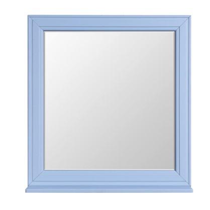Купить Зеркало Шарм 75 см цвет голубой дешевле
