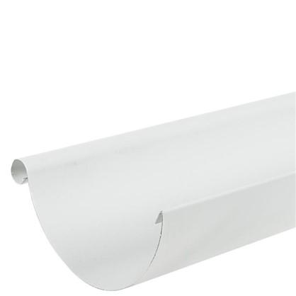 Купить Желоб водосточный 2 м 125 мм цвет белый дешевле