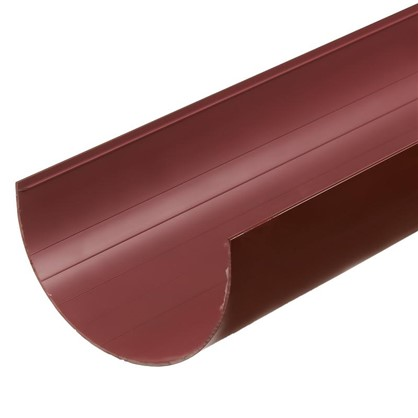 Желоб водосточный Dacha 120 мм 2 м цвет коричневый