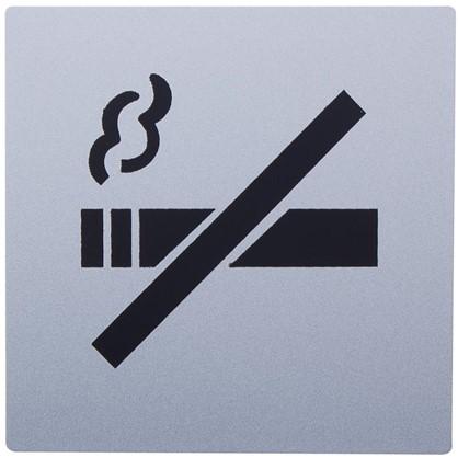 Купить Знак дверной Не курить Larvij самоклеящийся цвет серебро дешевле
