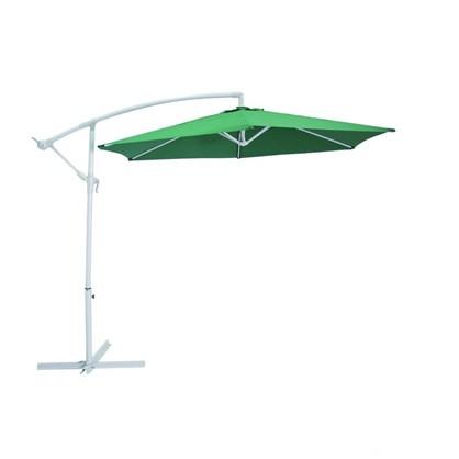Купить Зонт дачный 2.7 м зелёный подвесной на подставке металл/полиэстер недорого