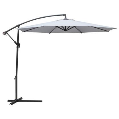 Зонт дачный 3 м серый подвесной на подставке сталь