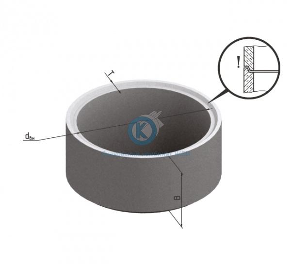 Кольцо бетонное для колодца К-15-5чс